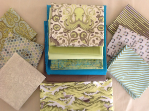 First, I added in coordinating prints and solids.